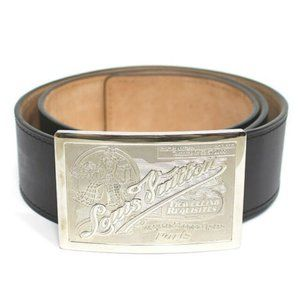 LOUIS VUITTON Sunture Jeans Leather Belt Black